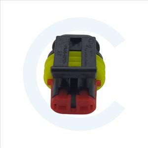 Conector Superseal 1.5 hembra 2 pines con protección. Cenel Europe Slu - Electronic components - Recambios y repuestos electrónicos.