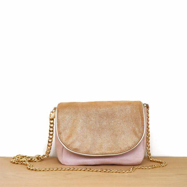 Cénélia | petit sac en cuir rose Lola