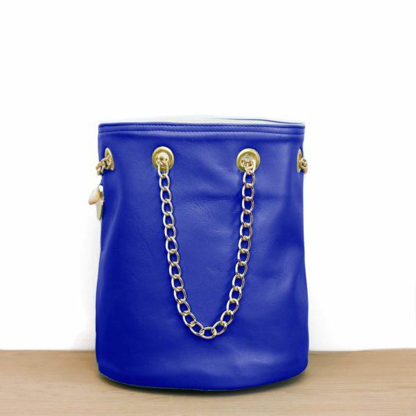 Cénélia   sac seau bleu Klein Zoé