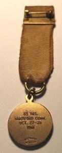 1961 Medal Back