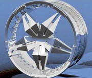 Pinnacle Xtreya replacement center cap - Wheel/Rim centercaps for Pinnacle Xtreya