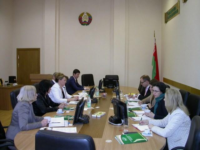 встреча первого заместителя директора Центра Г.П. Подрезёнок с главой департамента БДИПЧ ОБСЕ по демократизации М. Валецки