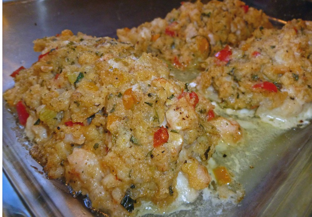 Shrimp Stuffing and White Fish