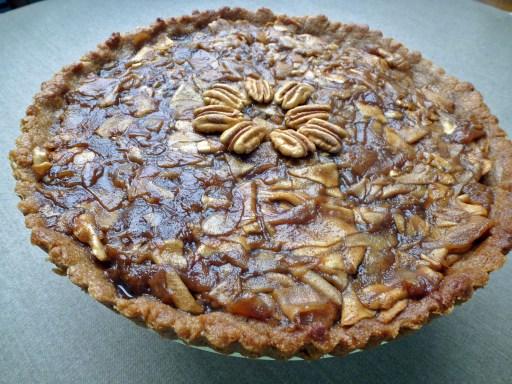 Apple Pecan Tart whole