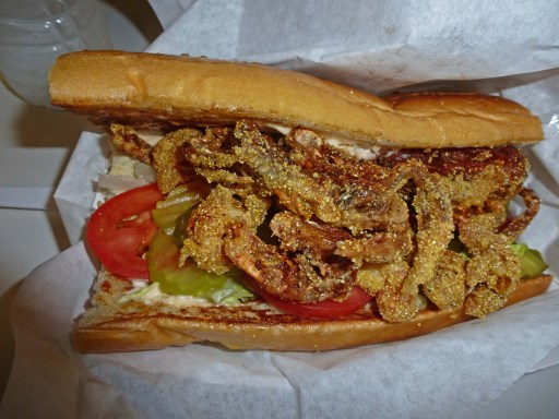 Crab and Crawfish PoBoy
