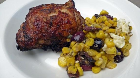 Greek Chicken and Corn