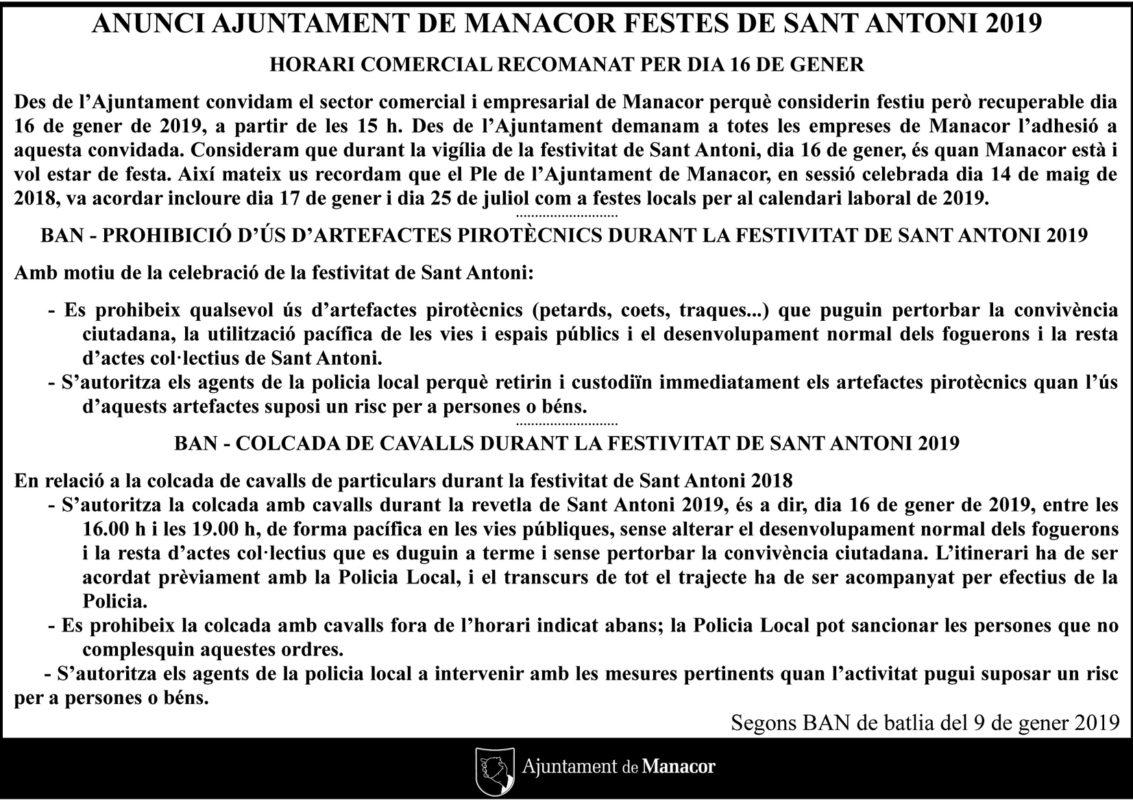 Ban De La Batlessa Per Sant Antoni