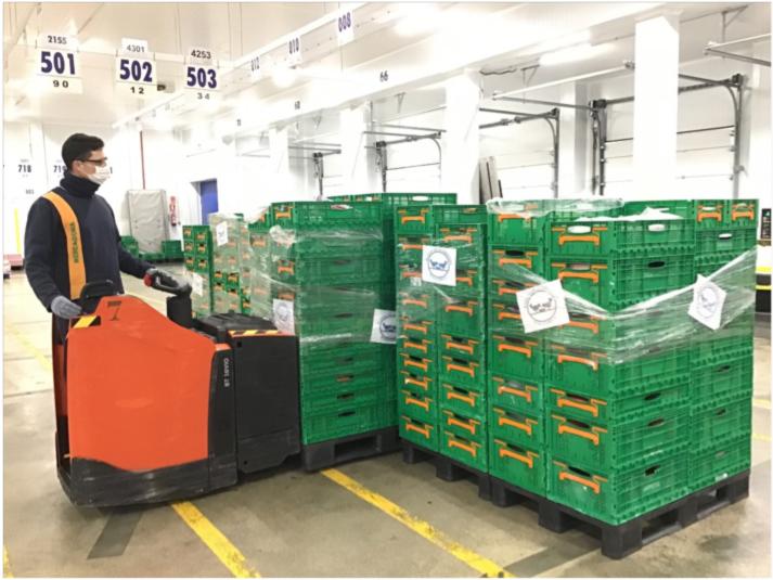 Mercadona Dóna Tres Tones De Productes De Primera Necessitat Al Banc D'Aliments De Mallorca