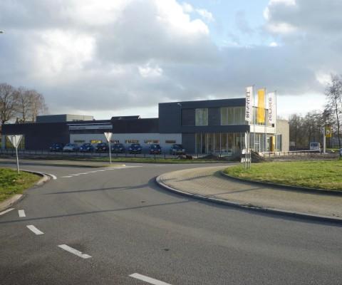 Vooraanzicht Renault garage