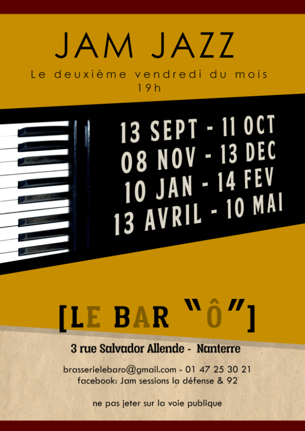 flyer jam jazz au bar o