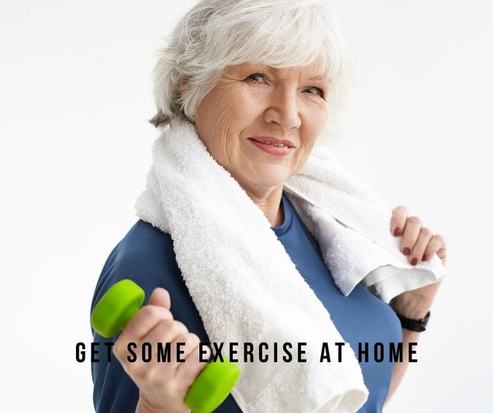 Seniors Exercise at Home