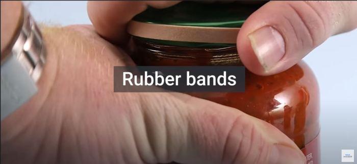 rubber band jar lid