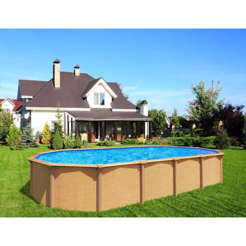 trigano piscine en metal osmose 9 45 x 4 90 x h 1 32 m echelle