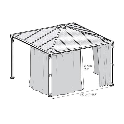 chalet jardin rideaux tonnelle couv terrasse 306x217 gris