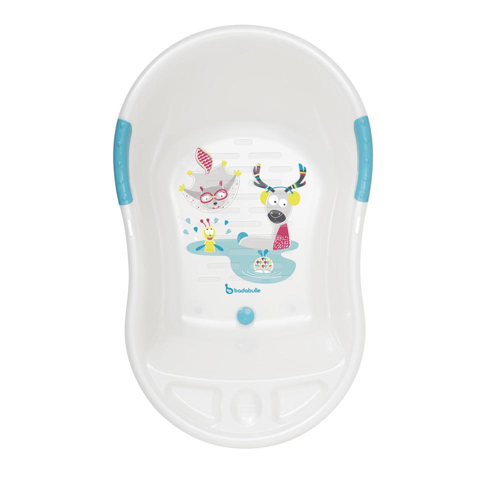 baignoire bebe ergo ludique blanche montagne de badabulle sur allobebe