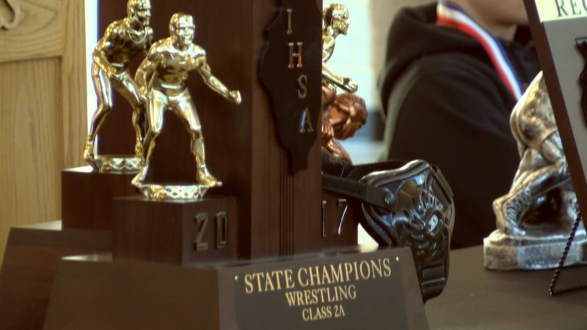 Washington Wrestling 2017 state trophy