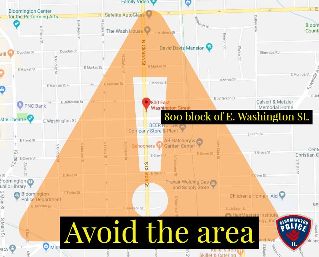 Bloomington police say East Washington Street issue has been resolved