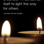 A good teacher is like a candle - it consumes itself to light the way for others.