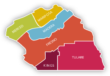 our region county map