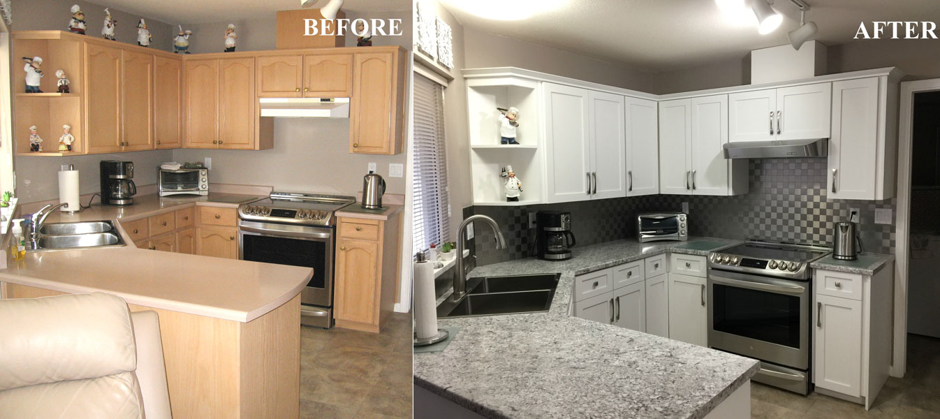 Before After Kitchen Cabinet Refacing Gallery