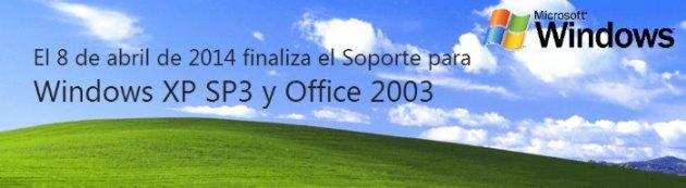 Microsoft elimina soporte para XP y Office 2003