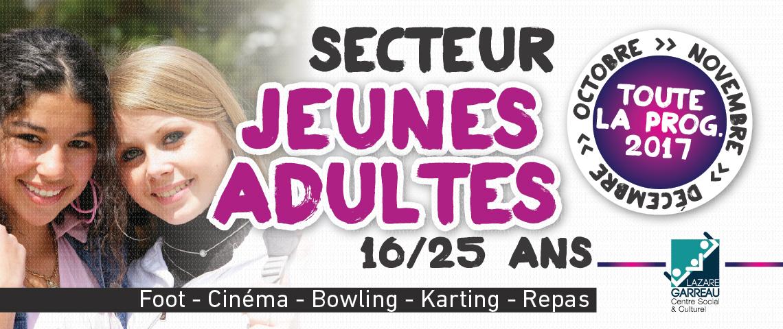 Secteur Jeunes Adultes, Programme 4e trimestre 2017