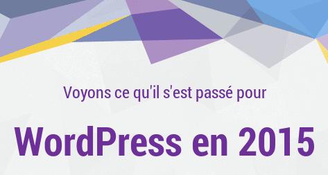 Bilan 2015 pour WordPress, leader des CMS !