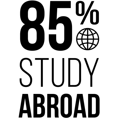 (infographic) 85 percent study abroad
