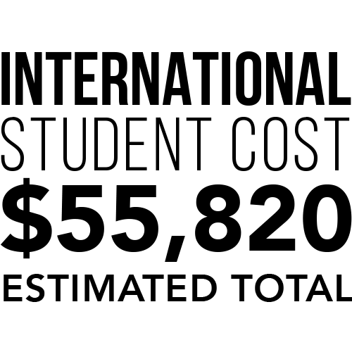 (infographic) international student estimated total cost is $55,820
