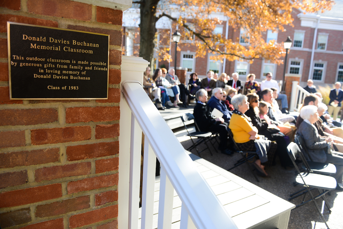 Donald D. Buchanan Outdoor Classroom Dedication