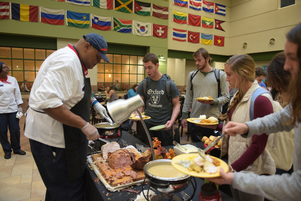 Thanksgiving meal in Cowan
