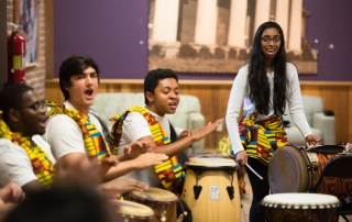 The Steel Drums and African Drumming Ensemble performed in the Warehouse on April 24, 2017.