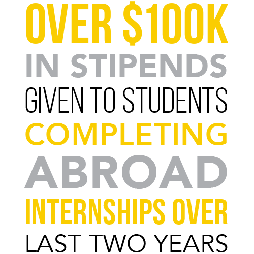 infographic about abroad internship stipends given to students