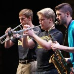Centre instrumental ensemble performs under the direction of the music faculty.