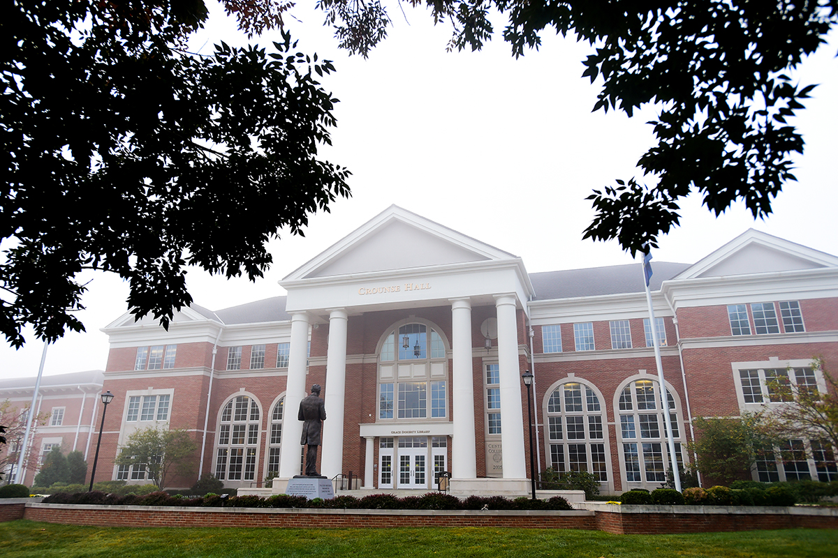 Heavy fog visited Centre College's campus on October 1, 2014