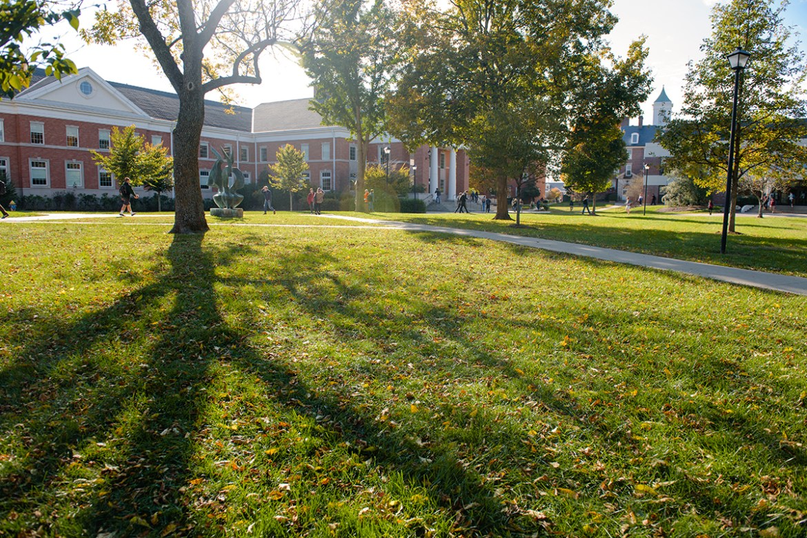 Centre College campus on a beautiful fall day on October 30, 2017.