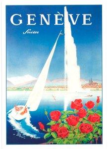 Tourisme, CeMaVi, centre Feldenkrais et danse créative, jet d'eau à Genève