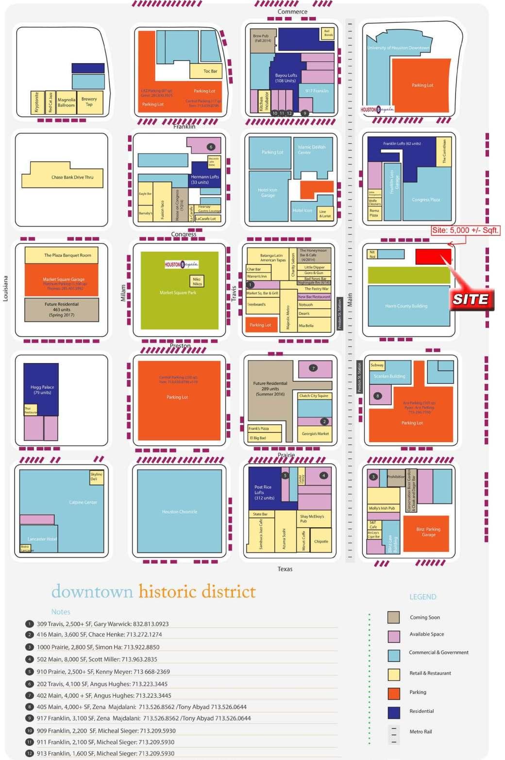 300 Fannin St map