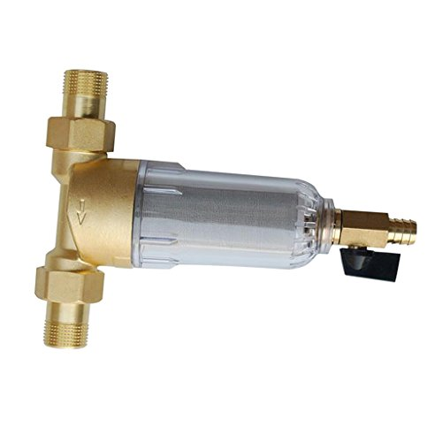 Rusco Vu-Flow 1.5 Inch PVC Threaded Inlet//Outlet 100 GPM Spin Down Sand Separator//Sediment Water Filter System