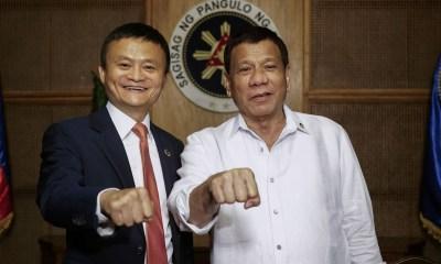 Philippines President Rodrigo Duterte Alibaba CEO Jack Ma Ant FInancial 2018FEB08