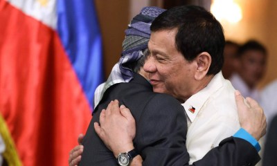 Philippine President Rodrigo Duterte and Nur Misuari