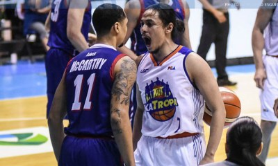 PBA penalized TNT KaTropa Terrence Romeo for provoking, headbutting Rashawn McCarthy