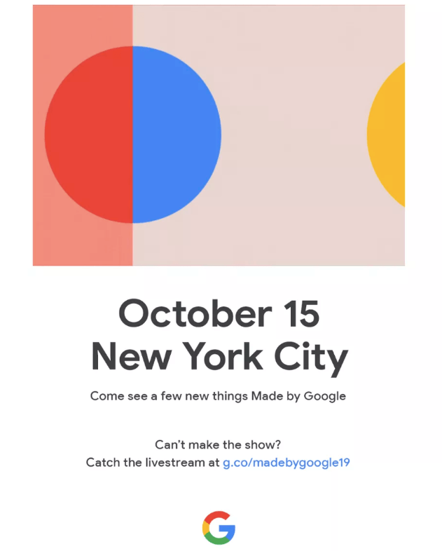 Pixel 4 and Pixel 4 XL Launch Date oct 15 2019 confirmed