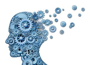 12882373 - brain loss and losing memory and intelligence due to neurological trauma and head injury or alzheimers disease caused by aging with gears and cogs in the shape of a human face showing cognitive loss and thinking function