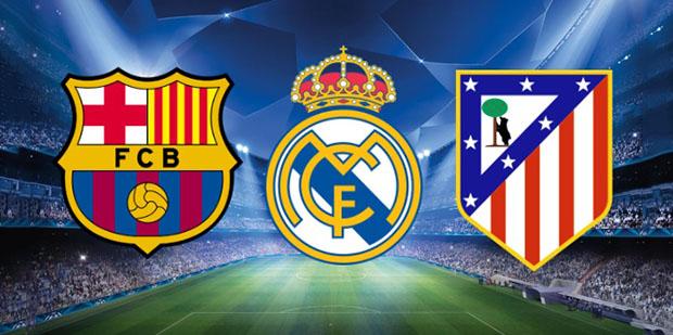 Barcelona vs Atletico Madrid logos