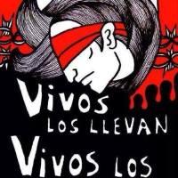 Retratos y lista de 43 estudiantes de Ayotzinapa detenidos-desaparecidos