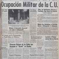 La UNAM, ocupada por el ejército mexicano desde la década de los 60.