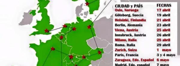 Arriba brigada de Ayotzinapa a Europa para recorrido por la presentación con vida de los 43 normalistas desaparecidos