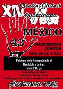 XIV Accion Global por Ayotzinapa