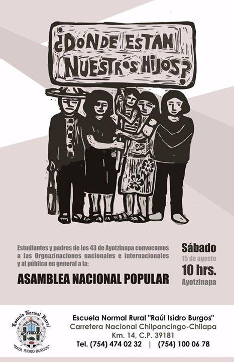 20150815 Asamblea Nacional Popular en Ayotzinapa